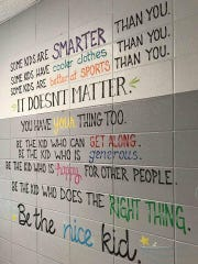 Motivational quotes have been painted on the walls at Beulah Elementary School this summer in an effort to inspire students.