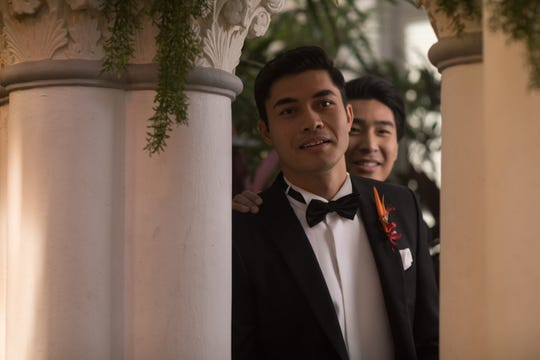 "In ""Crazy Rich Asians,"" Nick (Henry Golding, left) and Colin (Chris Pang) are best friends."