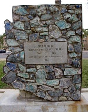 AZR photo by Angela Cara Pancrazio - Arizona Confederate Troops Memorial  at Wesley Bolin Plaza.