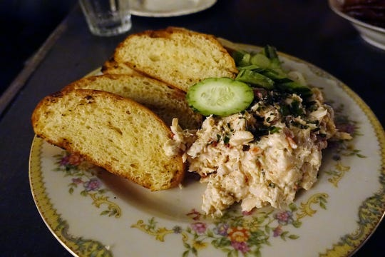 Smoked fish rillettes with herbs, peppers and fresh bread at Cotton & Copper in Tempe.