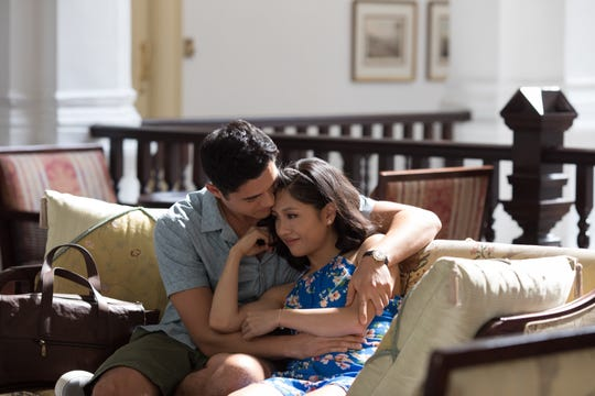 "In ""Crazy Rich Asians,"" the relationship between Nick (Henry Golding) and Rachel (Constance Wu) is tested."