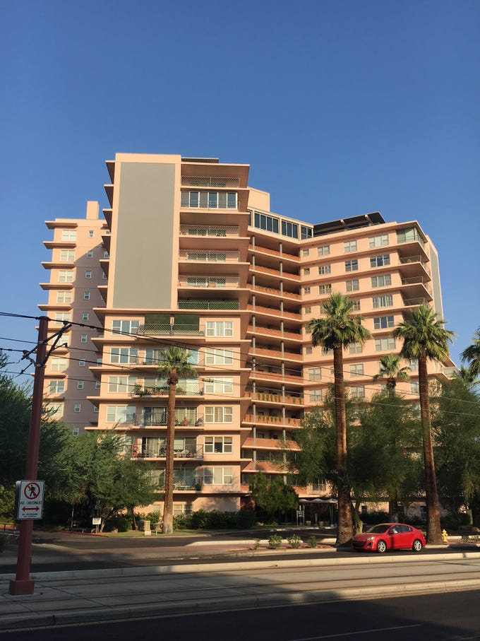 The Phoenix Towers residential development on Central Avenue is shown on Aug. 9, 2018.