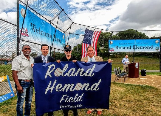 MLB executive Roland Hemond has a youth baseball field named in his honor in Central Falls, R.I. on Aug. 3, 2018.