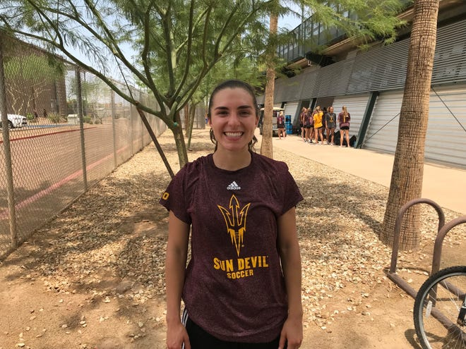 Midfielder/forward Casey Martinez will be completing her college soccer career at Arizona State after transferring from Duke.