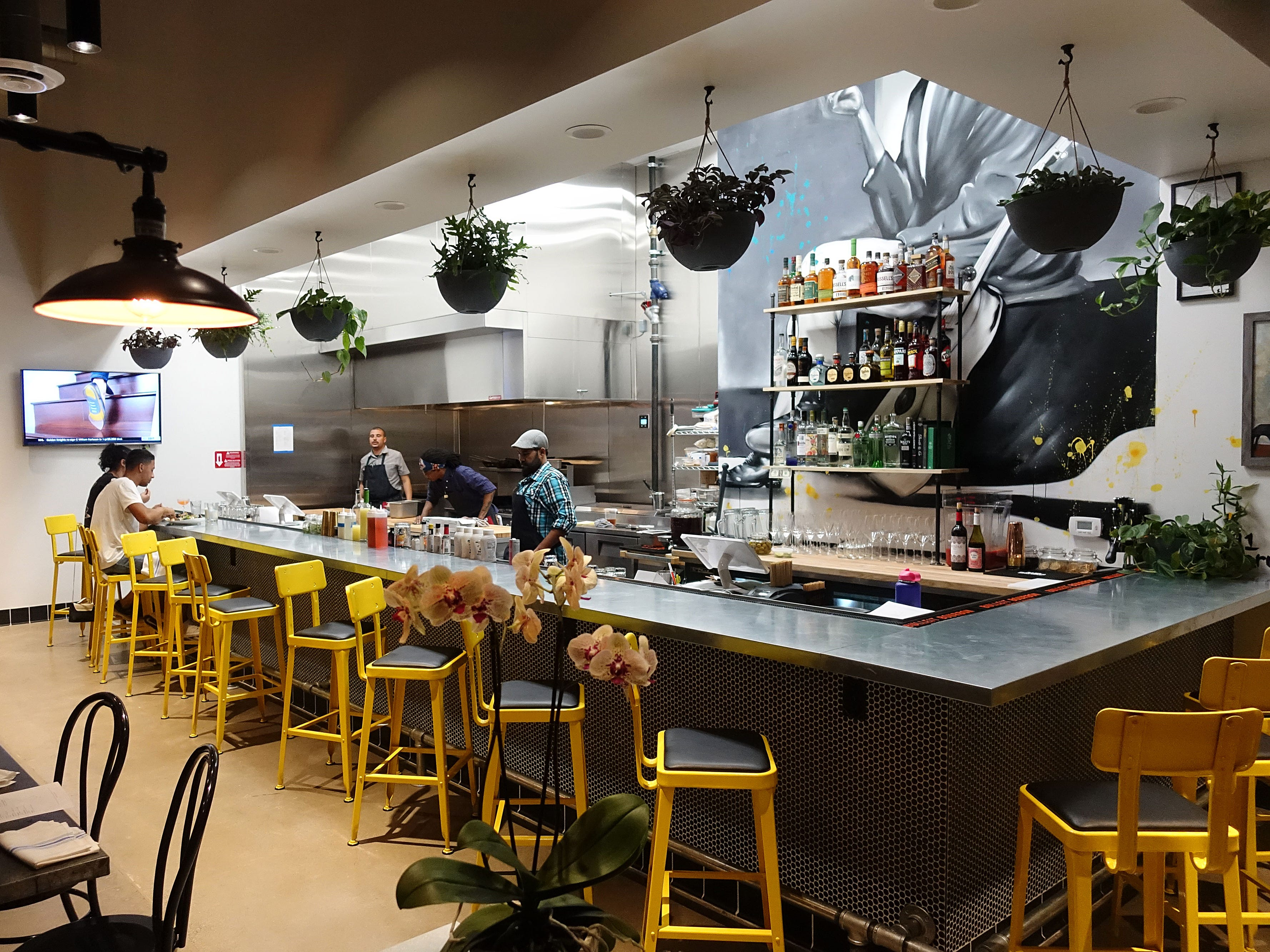 The interior of The Larder + The Delta, a new restaurant from Stephen Jones in Phoenix.