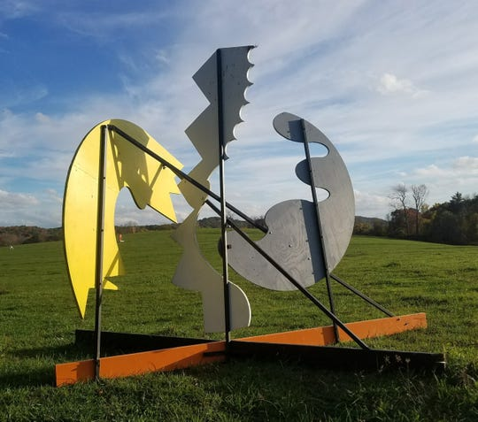 """Splish Splash,"" by Peter Schlemowitz, is on view in the Emporium Sculpture Park on Route 9 in Staatsburg."