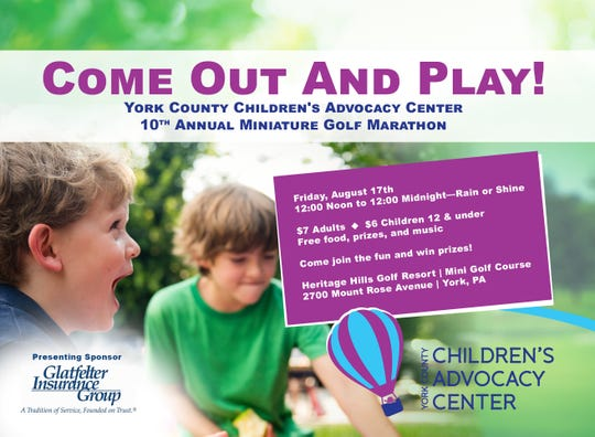 The York County Children's Advocacy Center is holding an annual golf fundraiser to fund its services for abused children.