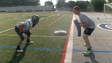 Reporter John Buffone jumps into heat acclimatization with the Dallastown and York High School football teams.