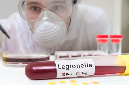 Researcher Is Analyzing Legionella In Test Tube With Blood