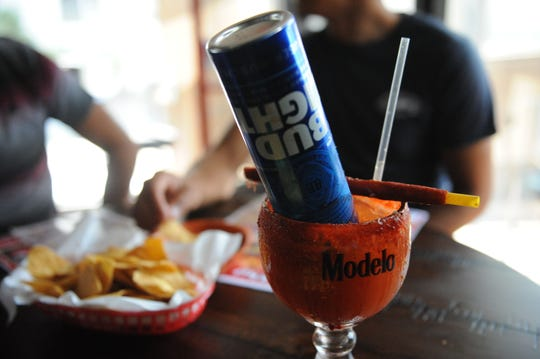 A Michelada with Bud Light at the newly opened Baja's Bar & Grill.