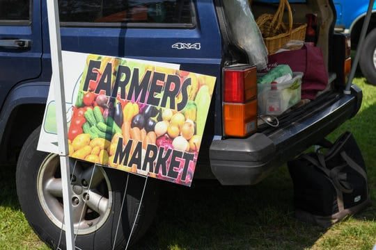 A handful of vendors set up at the Princess Anne farmers market on August 9.