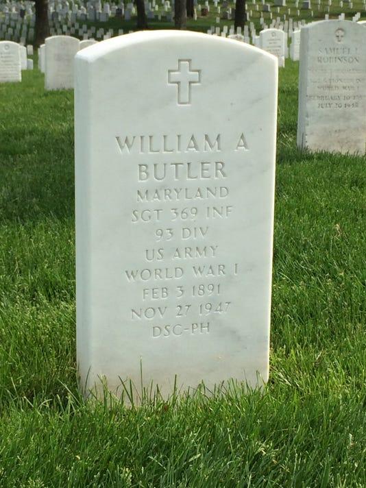 Butler's gravesite Arlinton