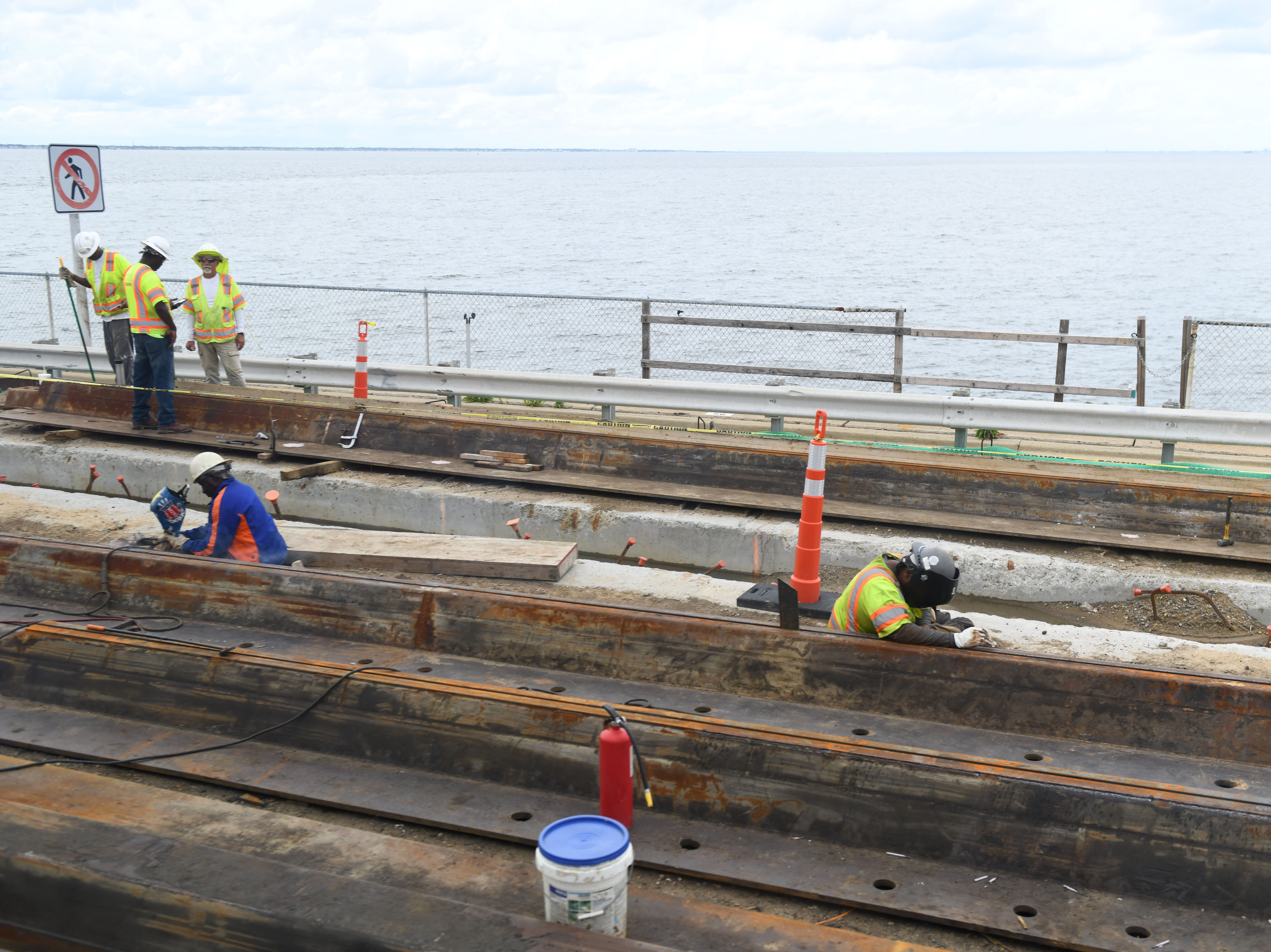 The Chesapeake Bay Bridge Tunnel is currently working on the Parallel Thimble Shoal Tunnel Project. It will construct a new two-lane tunnel under Thimble Shoal Channel.  When complete, the new tunnel will carry two lanes of traffic southbound and the existing tunnel will carry two lanes of traffic northbound.