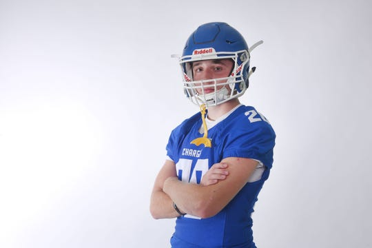 Parker Nelson logged 283 carries for 2,147 yards and 20 touchdowns for the state champion Chargers.