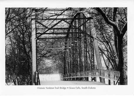 This photo of the bridge taken by Nancy Carlson helped spark renewed interest in the site.