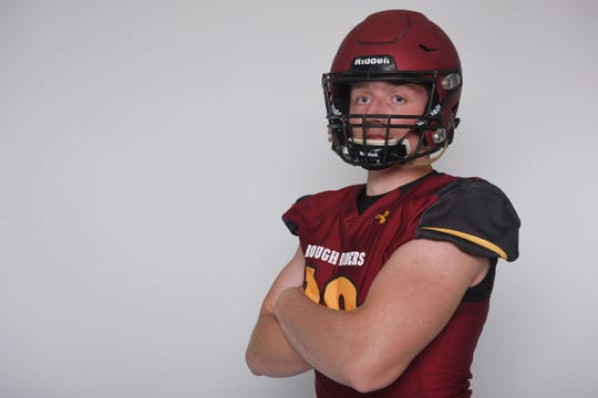Ethan Winter will likely start alongside the Kusler twins, Adam and Aaron, at linebacker for Roosevelt.