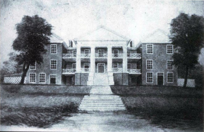 The new Augusta Female Seminary as it appeared in 1848—one of Staunton's improvements that was hailed by the editors of the Staunton Spectator.