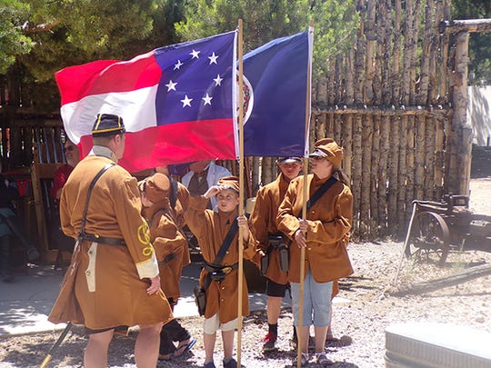 Military re-enactors will help honor American soldiers at Frontier Homestead State Park on Aug. 11, 2018.