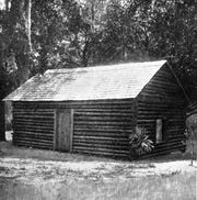 Tallahassee Boy Scouts created a replica of Florida's first capitol in 1924, as Tallahassee celebrated the city's 100th anniversary. The legislature met in the building in November-December 1824 and named the city Tallahassee. Research indicates the original log cabin capitol had two stories.