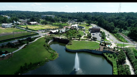 The 2.6-mile Capital Cascades Trail is anchored by the award-winning Cascades Park, a stormwater facility over an old brownfield site.