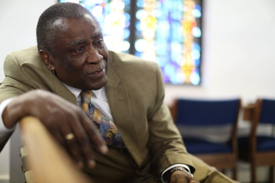 Longtime St. Mary's Primitive Baptist Church pastor, Reverend Ernest Ferrell, seen here at the church on Friday, Aug. 3, 2018, has retired from his role as President and CEO of the Tallahassee Urban League after 48 years of service.