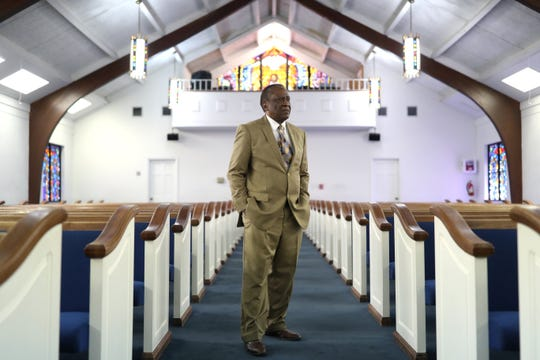Longtime St. Mary's Primitive Baptist Church pastor, Reverend Ernest Ferrell, seen here at the church on Friday, Aug. 3, 2018, has retired from his position of President and CEO of the Tallahassee Urban League after 48 years of service.