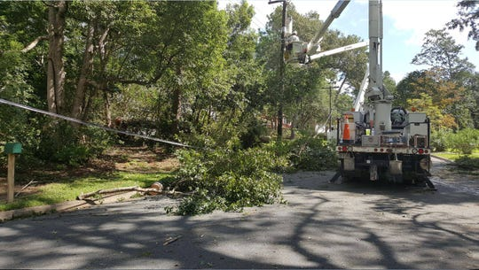 City of Tallahassee utility crews during a storm clean up and recovery.