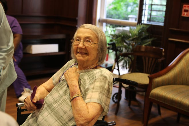 Esther Brahaney turned 104 Thursday, August 9. Residents and staff at Westminster Oaks held a birthday party to celebrate her.