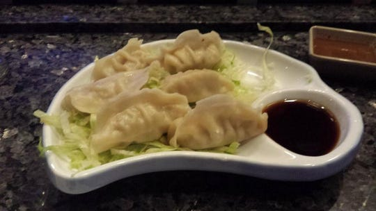 Fujiyama's ebi shumai-steamed shrimp dumplings. You can get birthday specials and a complimentary cake on your birthday.