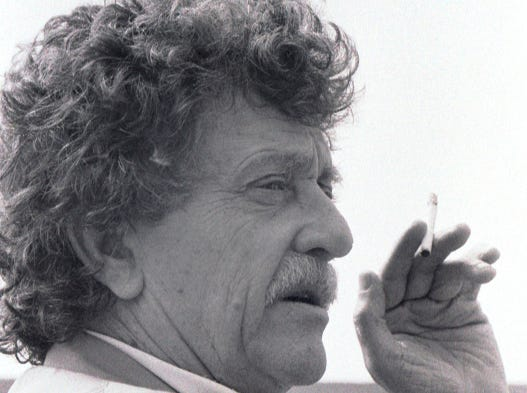 March 26, 1991 - Author Kurt Vonnegut made a stop in Vero Beach where he was part of the Center for the Arts' luncheon-lecture series held in the Leonhardt Auditorium. He spent time at the Moorings Clubhouse for an interview with a Press Journal reporter.