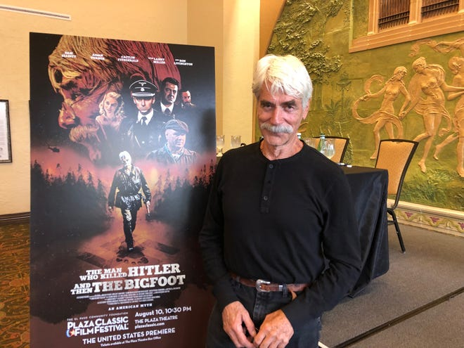 """Sam Elliott, star of the film """"The Man Who Killed Hitler And Then The Bigfoot,"""" answered questions from the media ahead of the movie premiere during the 2018 Plaza Classic Film Festival at the El Paso Community Foundation. Elliott has family roots in El Paso."""