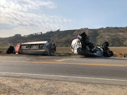 A crash Aug. 10 between a sedan and tanker truck turned fatal on Highway 118 at Balcom Canyon Road.