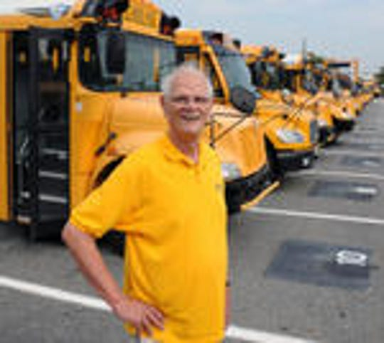 Dean Charlson, pictured here in a file photo, is retiring after a 55-year career as a Vineland Public Schools bus driver