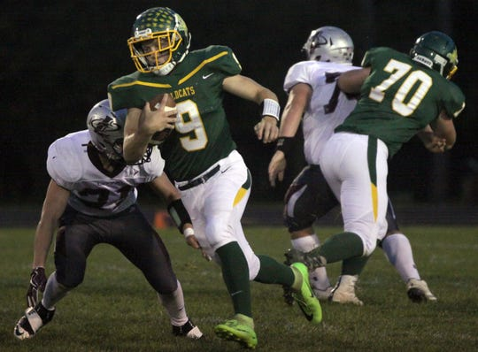 Will Raatz led the Edgar football team with more than 900 yards rushing last season. He is part of a Wildcats backfield which returns three key players from last year's squad which finished 11-1. USA TODAY NETWORK-Wisconsin file photo