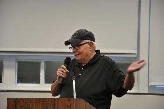 Former Pearl River athletic director Tom Doherty speaks on Joe Biddy's behalf.