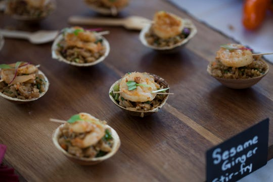 There's lots of food to be sampled at The Greenwich Wine + Food Festival's Grand Tasting Village.
