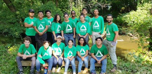 Volunteers from Groundwork Hudson Valley in Yonkers