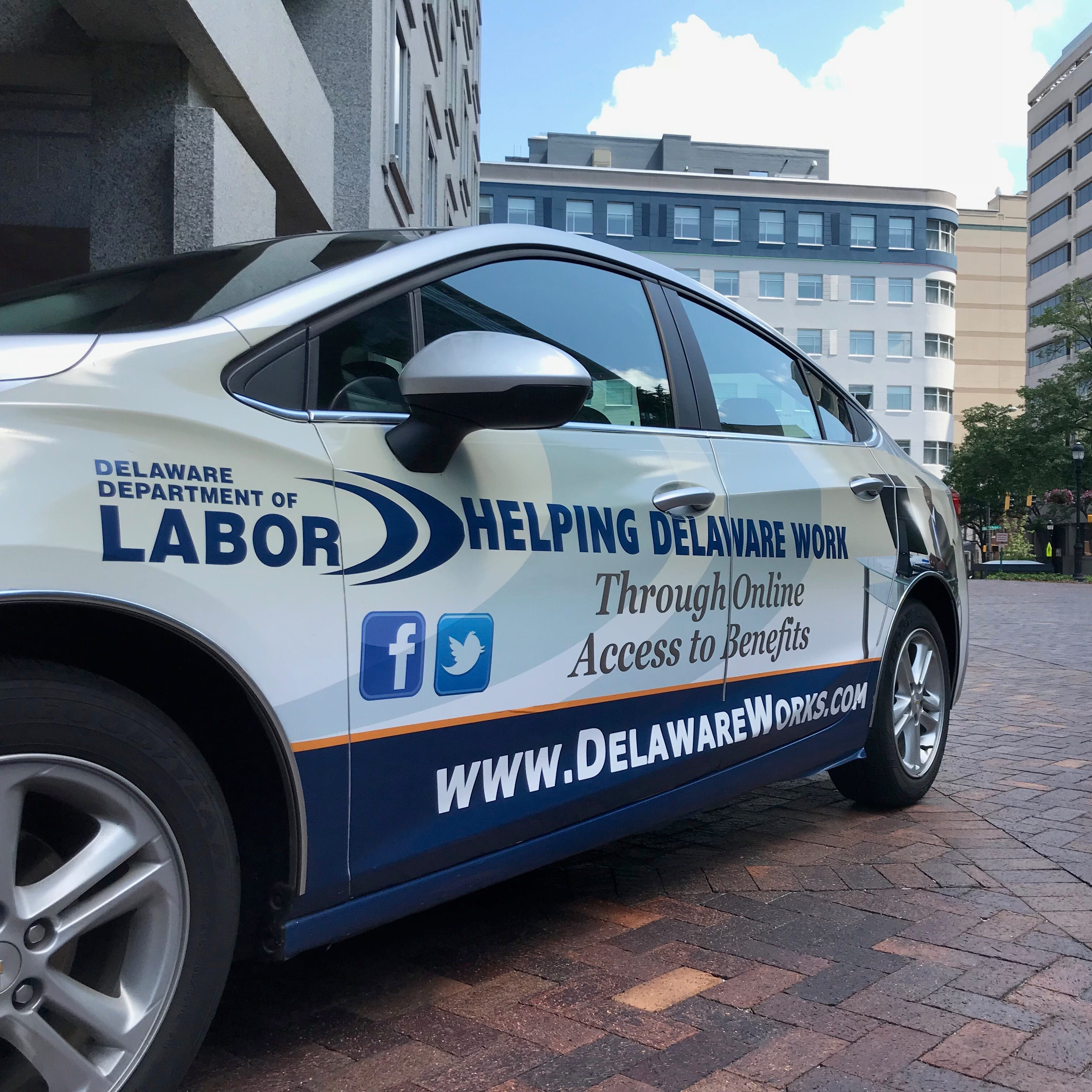 The Department of Labor has partnered with startup Carvertise to spread awareness of the agency's services.