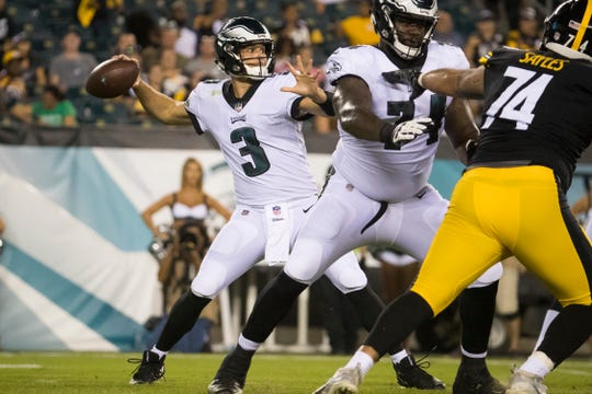 Joe Callahan, the Wesley College star, was 8-for-18 for 91 yards through the first three preseason games.