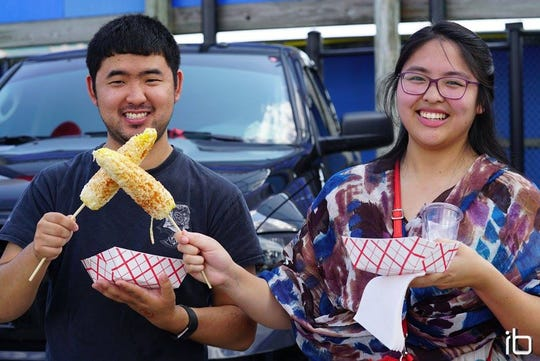 Tacos aren't the only thing on the menu. Mexican corn is also available at the annual Delaware Taco Festival.