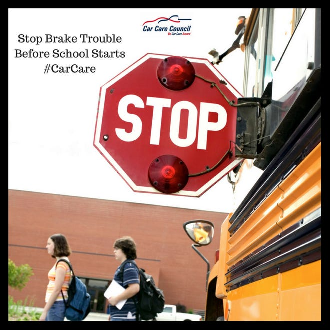 Brake Safety Awareness Month comes as children are heading back to school. The Car Care Council urges drives to check their brakes regularly.