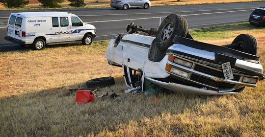 Wichita Falls Police investigate a one-vehicle rollover accident that occurred about 6:00 a.m. Friday morning at the Windthorst Road on ramp near U.S. Highway 287 eastbound. Witnesses told police the Chevrolet Silvarado pickup rolled over three times, ejecting the driver.