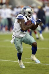 Dallas Cowboys running back Bo Scarbrough (36) runs with the ball against the San Francisco 49ers during an NFL football game Thursday, Aug. 9, 2018, in Santa Clara, CA. The Niners won 24-21.
