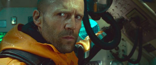 "Jason Statham is wise enough to be worried about a shark attack even when on a nuclear submarine in ""The Meg."""