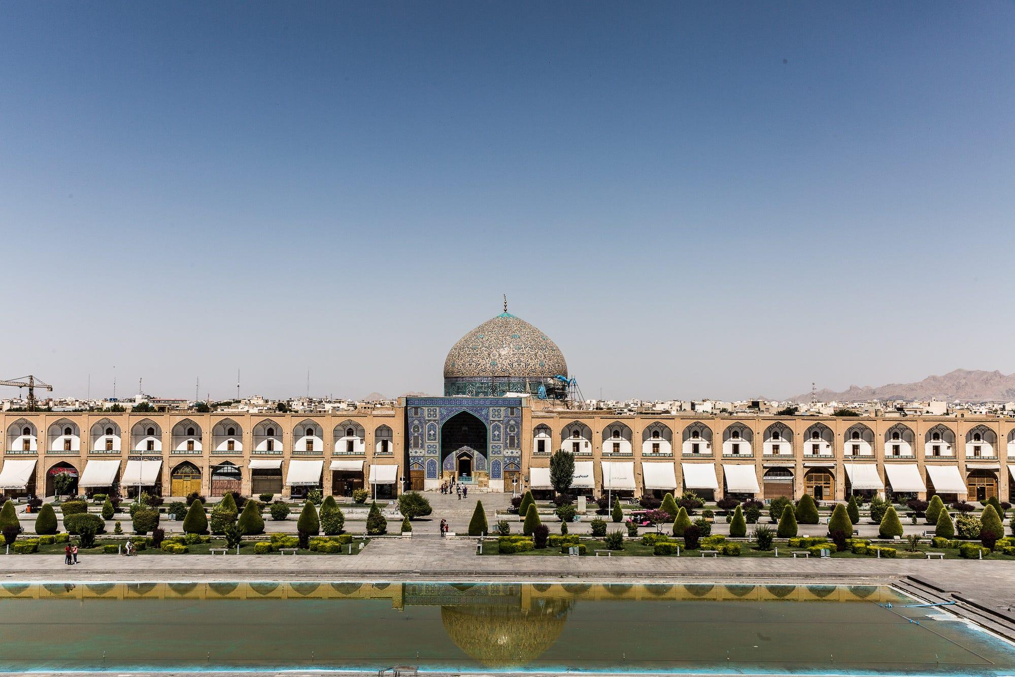 A view of Naqsh-e Jahan Square, in Isfahan, Iran, on July 13, 2018.