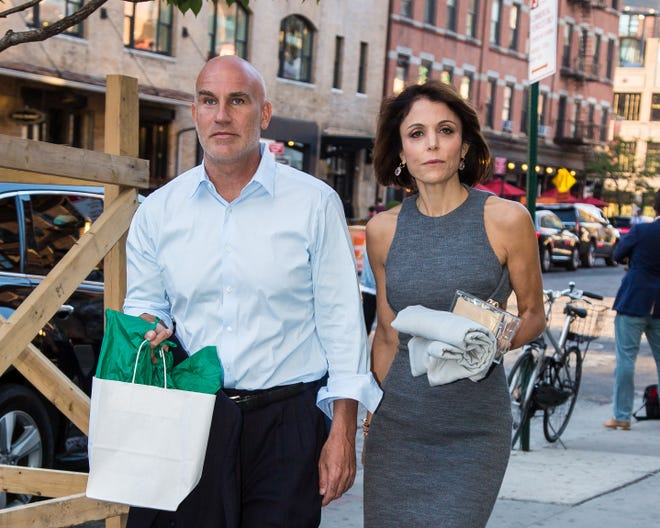 """Dennis Shields, seen here in 2016 with then-girlfriend Bethenny Frankel of """"Real Housewives of New York City,"""" was found dead in his Manhattan apartment  Friday."""