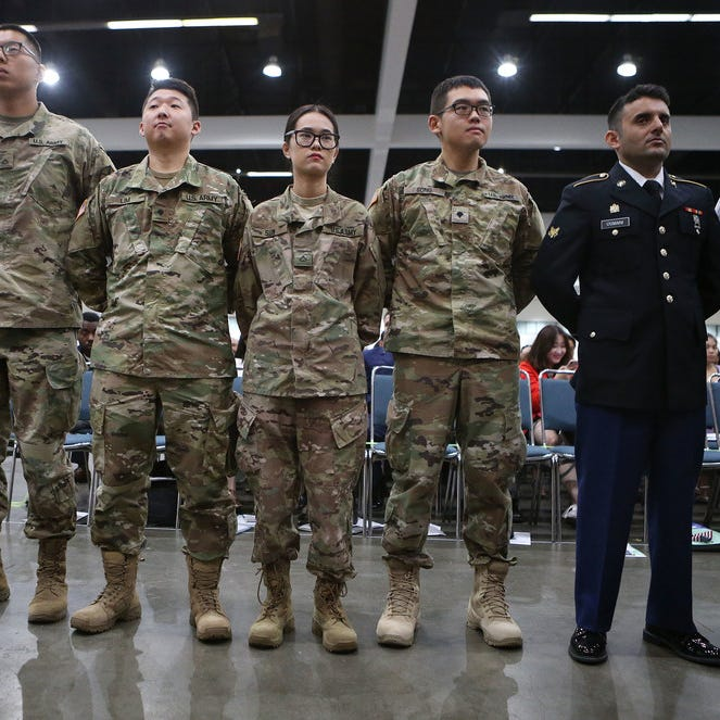 Don't discharge immigrants in the military, be grateful and make more of them citizens