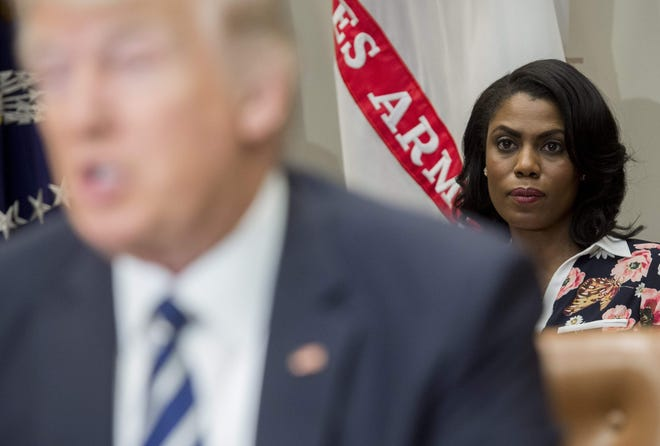 Omarosa Manigault Newman in her role as White House director of communications for the Office of Public Liaison.