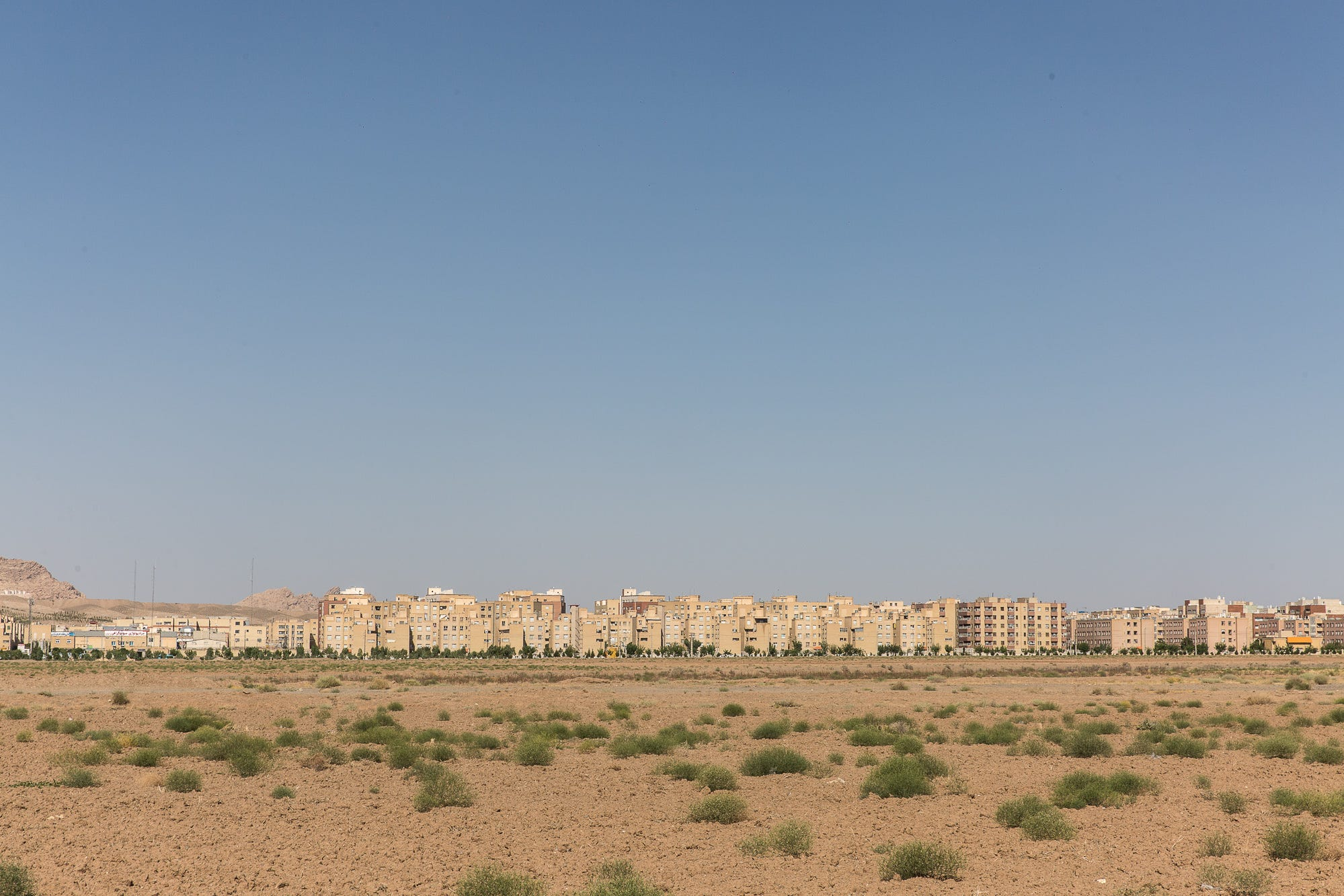 Residential buildings in Qom, an Iranian desert city popular with clerics and religious scholars, on July 12, 2018.