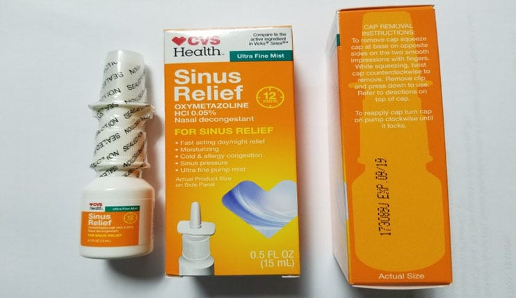 cvs nasal spray recall  sinus relief product may cause infection